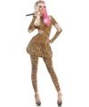 Luipaard print nicki kostuum dames