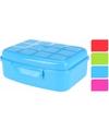Lunchbox met klik deksel blauw 1300 ml