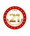 Luxe bierviltjes 21 jaar