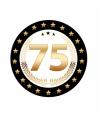 Luxe bierviltjes 75 jaar