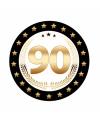 Luxe bierviltjes 90 jaar