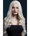 Luxe blonde pruik met krullen
