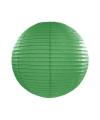 Luxe bol lampion donker groen 25 cm