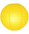 Luxe bol lampion geel 25 cm