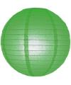 Luxe bol lampion groen 25 cm