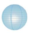 Luxe bol lampion lichtblauw 25 cm