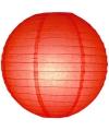 Luxe bol lampion rood 25 cm