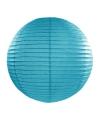 Luxe bol lampion turquoise blauw 35 cm