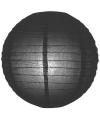 Luxe bol lampion zwart 25 cm