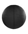 Luxe bol lampion zwart 35 cm