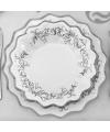 Luxe bordjes zilver 27 cm