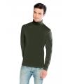 Luxe col t shirt donkergroen voor heren