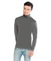 Luxe col t shirt lichtgrijs voor heren