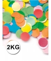 Luxe confetti 2 kilo multicolor brandvertragend