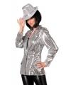Luxe dames colbert zilver