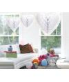 Luxe hangdecoratie hart wit 30 cm