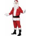 Luxe kerstman kostuum van velours