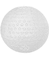 Luxe lampion wit met bloem motief 35 cm