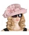 Luxe lichtroze koninginnen hoed laurentien
