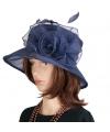 Luxe navy koninginnen hoed irene