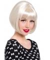 Luxe platinum blonde boblijn damespruik