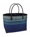 Luxe strandtas happy blue 49 cm