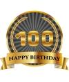 Luxe verjaardag mok beker 100 jaar