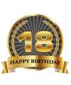 Luxe verjaardag mok beker 18 jaar