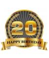 Luxe verjaardag mok beker 20 jaar