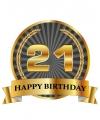 Luxe verjaardag mok beker 21 jaar