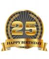 Luxe verjaardag mok beker 25 jaar