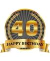 Luxe verjaardag mok beker 40 jaar