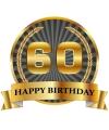Luxe verjaardag mok beker 60 jaar