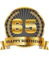 Luxe verjaardag mok beker 65 jaar