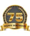Luxe verjaardag mok beker 75 jaar