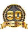 Luxe verjaardag mok beker 80 jaar