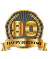 Luxe verjaardag mok beker 90 jaar