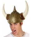 Luxe viking helm met bont en hoorns