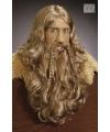 Luxe viking pruik bruin
