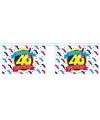 Luxe vlaggenlijn 40e verjaardag 9 meter