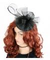 Luxe zwarte koninginnen hoed christina