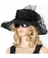 Luxe zwarte koninginnen hoed mabel