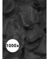 Luxe zwarte rozenblaadjes 1000 stuks