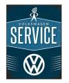 Magneet volkswagen service 6 x 8 cm