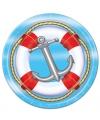 Marine thema wegwerp bordjes 8 st