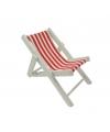 Maritieme deco strandstoel rood