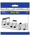 Markeerlint met muzieknoten