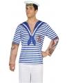 Matroos verkleed shirt voor heren