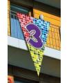 Mega decoratie vlag 3 jaar 90 x 150 cm