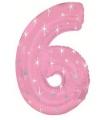 Mega folie ballon cijfer 6 roze
